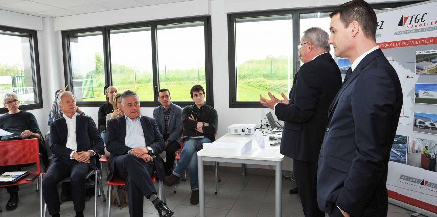 Conférence de Presse à l'occasion de l'ouverture de la nouvelle plateforme surgelée «LE CALVEZ surgelés»