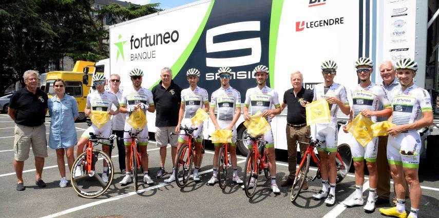  #TDF2018  :  Accueil de l'Equipe Fortuneo Samsic