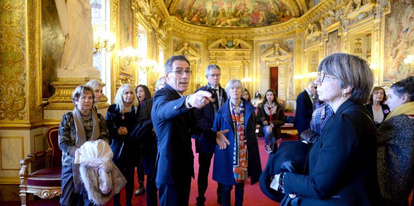 Le CMJ visite le Sénat